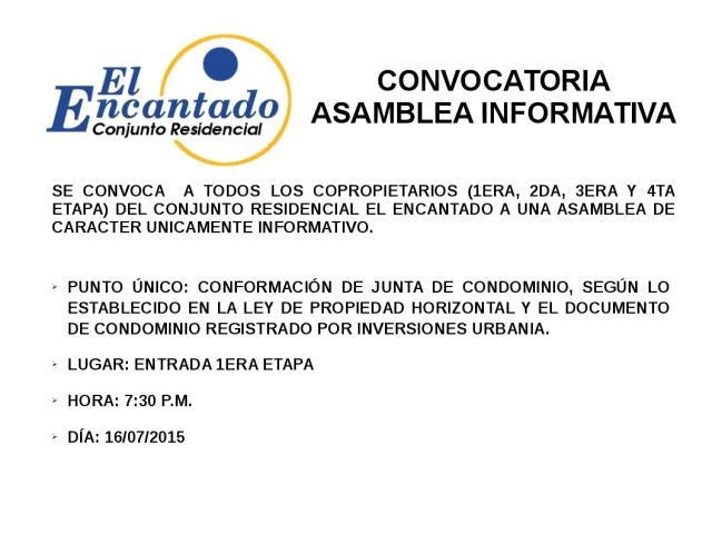 Convocatoria Asamblea Informativa